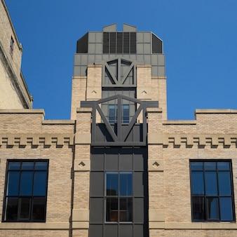 Art deco fasada budynku biurowego, minneapolis, hrabstwo hennepin, minnesota, usa