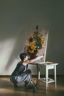 Artysta w pracy