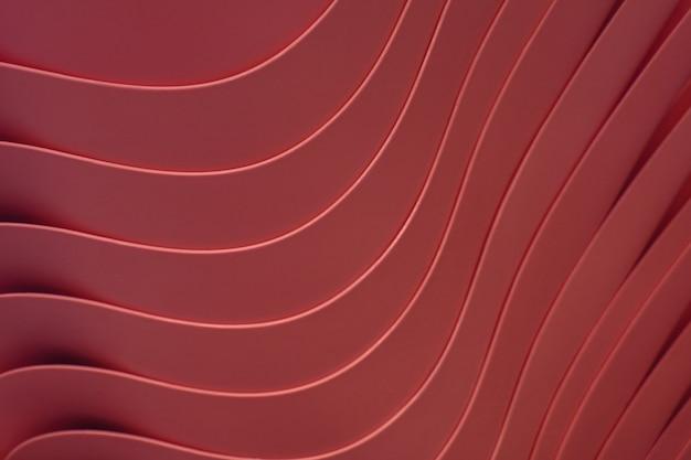 Artystyczne zakrzywione linie spiętrzonych bordowych plastikowych misek, dla wzoru i tła