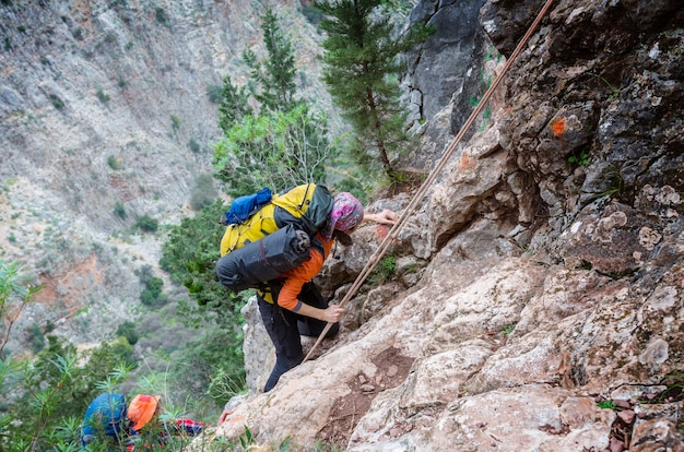 Arywista wspinaczka na góry