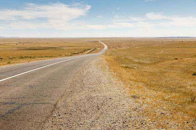 Asfaltowa droga sayshand-choir w mongolia