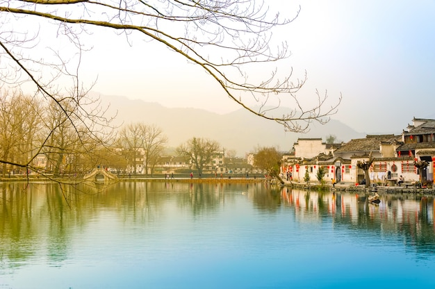 Asian starożytny krajobraz chiny podróży tradycyjnych