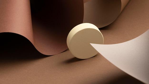 Asortyment abstrakcyjnych elementów projektu 3d