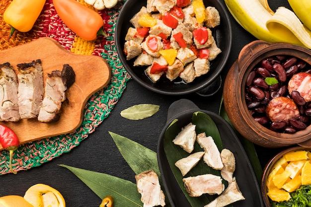 Asortyment brazylijskich produktów spożywczych