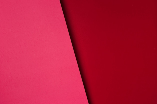 Asortyment czerwonych arkuszy papieru