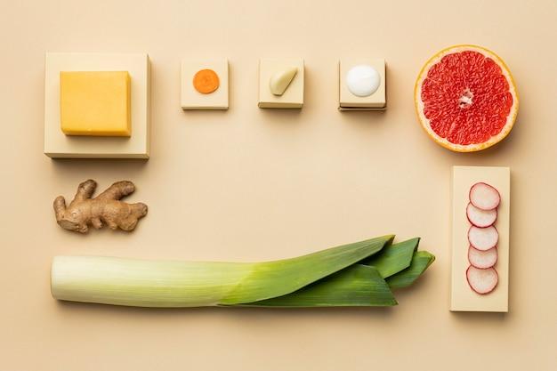 Asortyment diety flexitarian powyżej widok