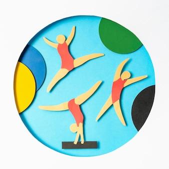 Asortyment igrzysk olimpijskich w stylu papieru