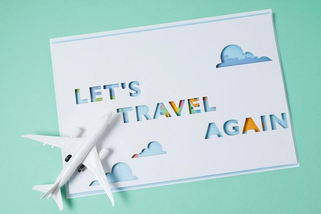 Asortyment koncepcji podróży ponownie