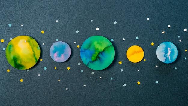 Asortyment Kreatywnych Planet Papierowych Darmowe Zdjęcia