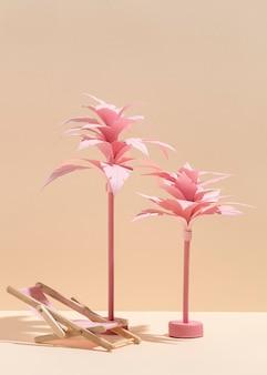 Asortyment letniej plaży wykonanej z różnych materiałów