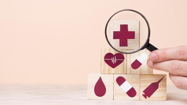 Asortyment medycznych elementów martwej natury