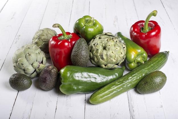 Asortyment mieszanych warzyw