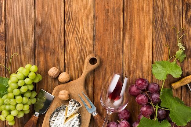 Asortyment na białe i czerwone wino