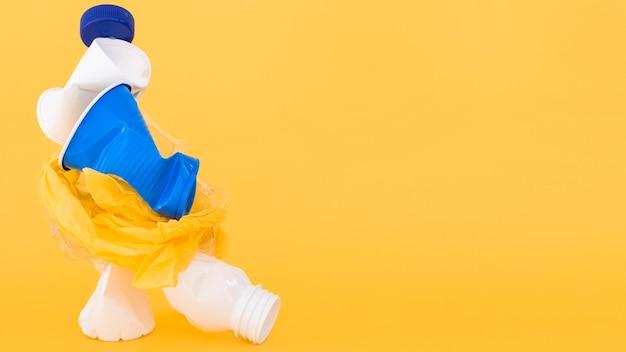 Asortyment nieszkodliwych dla środowiska elementów plastikowych