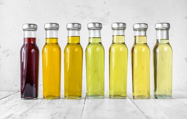Asortyment olejów roślinnych