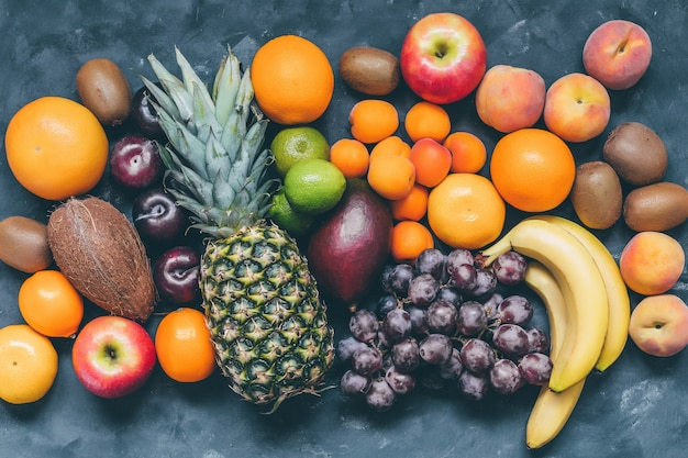 Asortyment owoców