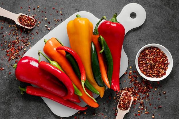 Asortyment Płaskich Zdrowej żywności Dla Wzmocnienia Odporności Darmowe Zdjęcia