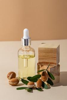 Asortyment produktów arganowych, widok z przodu