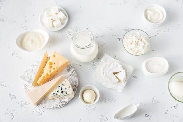 Asortyment produktów mlecznych