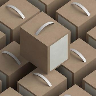 Asortyment pudełek na produkty pod wysokim kątem