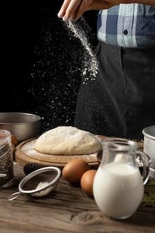 Asortyment pysznego chleba z martwych składników