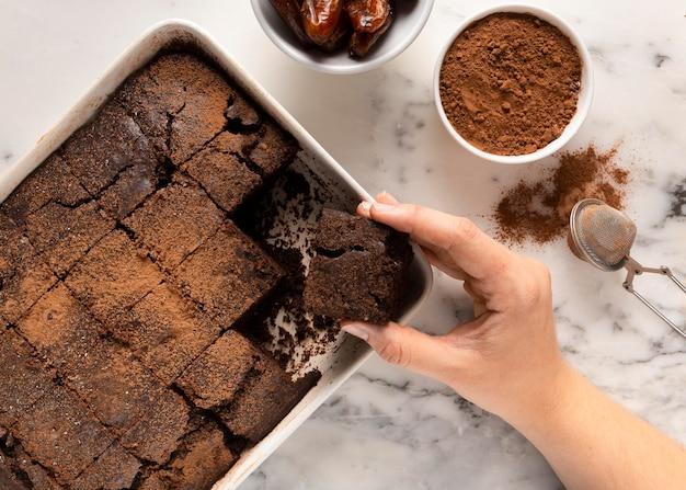 Asortyment pysznego zdrowego kakao przepis