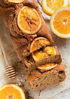 Asortyment pysznego zdrowego przepisu z pomarańczami