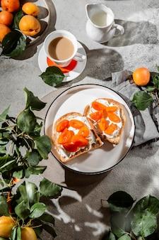 Asortyment pysznych posiłków śniadaniowych