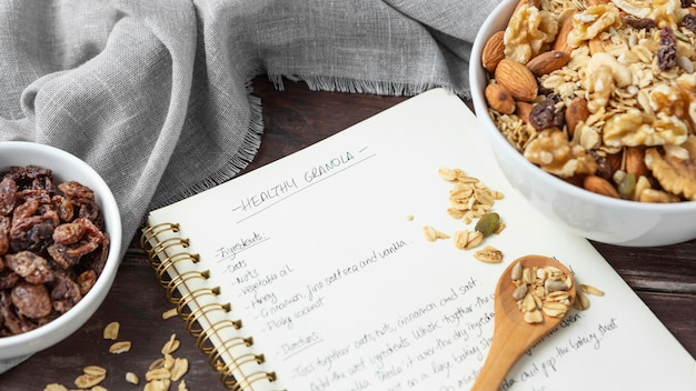 Asortyment pysznych składników w kuchni