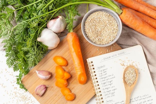 Asortyment pysznych surowych warzyw