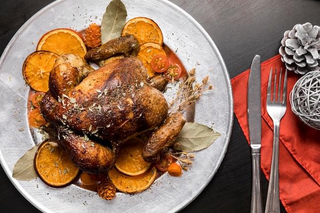 Asortyment pysznych świątecznych posiłków