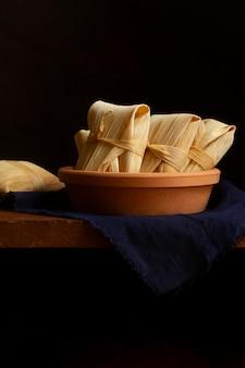 Asortyment pysznych tradycyjnych tamales