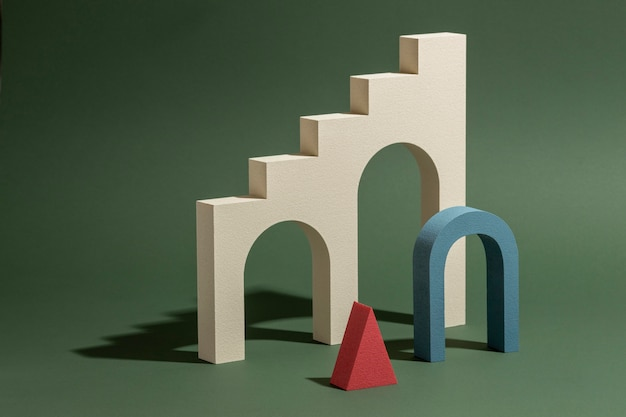 Asortyment renderowanych elementów 3d