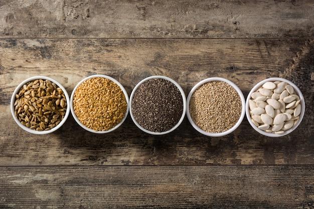 Asortyment różnych nasion
