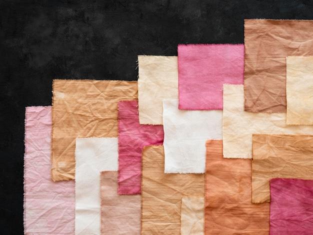 Asortyment ściereczek z naturalnymi pigmentami