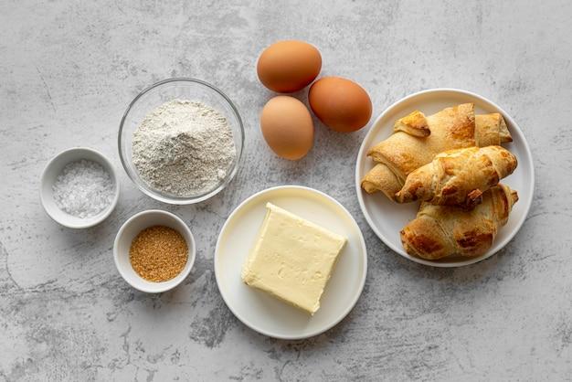 Asortyment smacznych potraw i składników