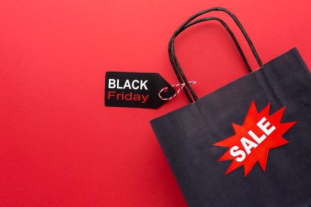 Asortyment sprzedaży w czarny piątek z miejscem na kopię