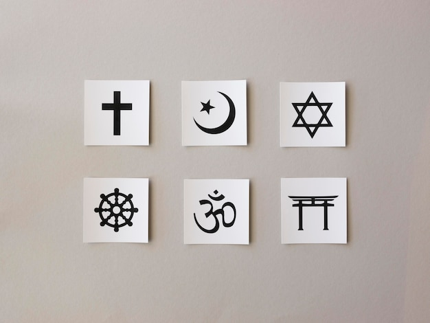 Asortyment symboli religijnych