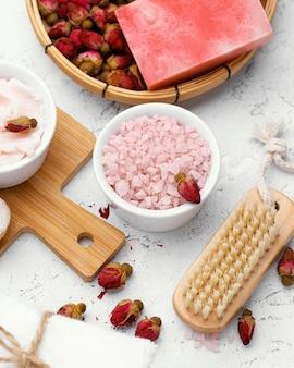 Asortyment z domowymi składnikami