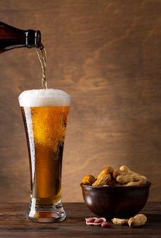 Asortyment z pysznym amerykańskim piwem