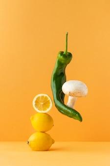 Asortyment zdrowej żywności wegetariańskiej