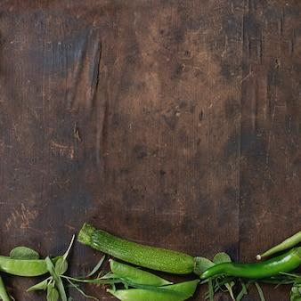 Asortyment zielonych warzyw