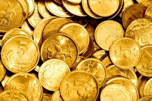 Asortyment złotych monet