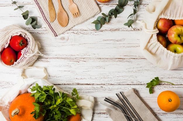 Asortyment żywności dla zdrowego i zrelaksowanego umysłu
