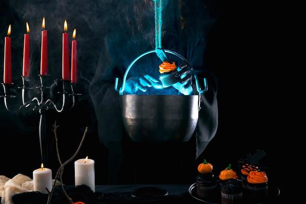 Asortyment żywności na halloween