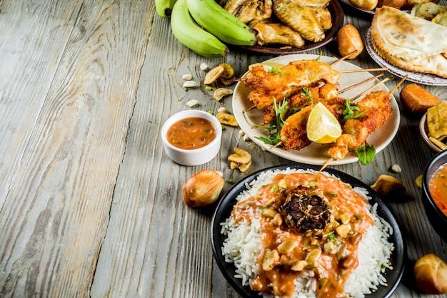 Asortyment żywności z afryki zachodniej