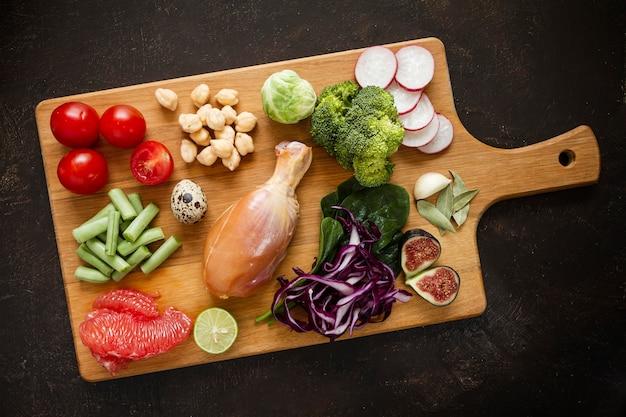 Asortyment żywności z dietą flexitarian