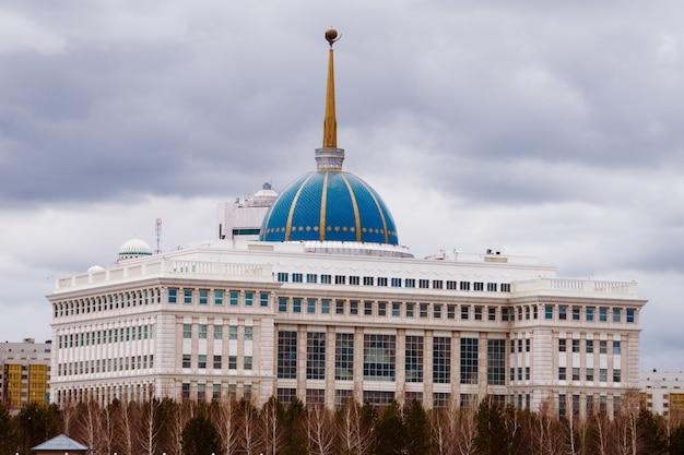 Astana, kazachstan - 26 kwietnia 2018: porozumienie - rezydencja prezydenta republiki kazachstanu