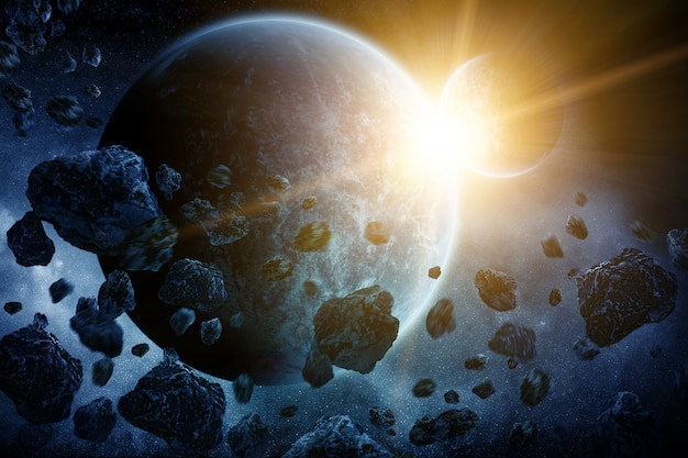 Asteroidy nad planetą ziemią