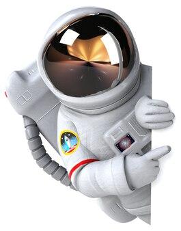 Astronauta Ilustracja 3d Premium Zdjęcia